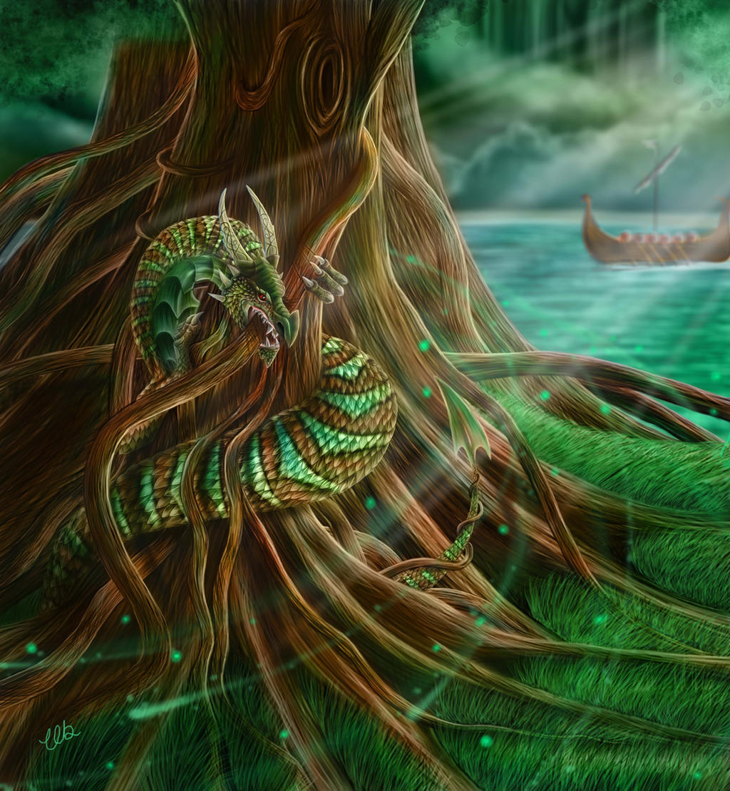 Nidhogg, The Dragon of Yggdrasil by CLB-Raveneye on DeviantArt