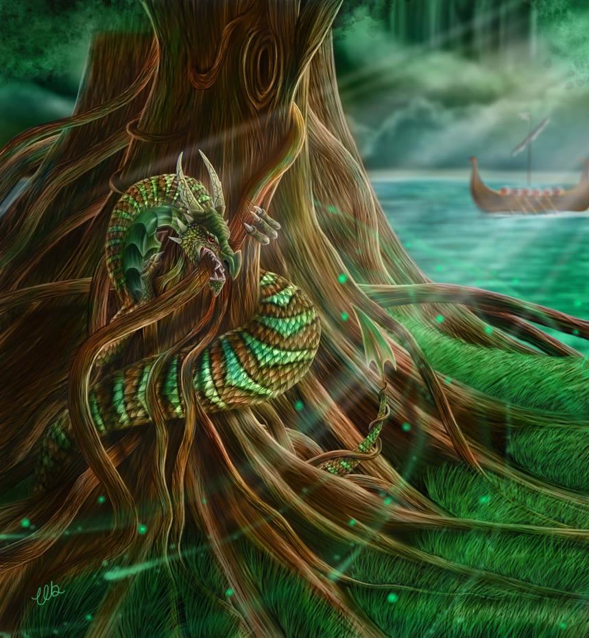 nidhogg dragon norse - 900×975