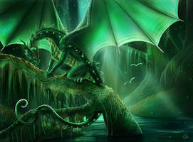 The Forest Dragon by CLB-Raveneye