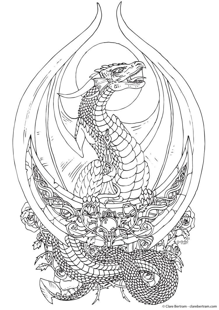Moonstruck (Line Art) by CLB-Raveneye