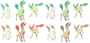 This is how I draw Leafeon