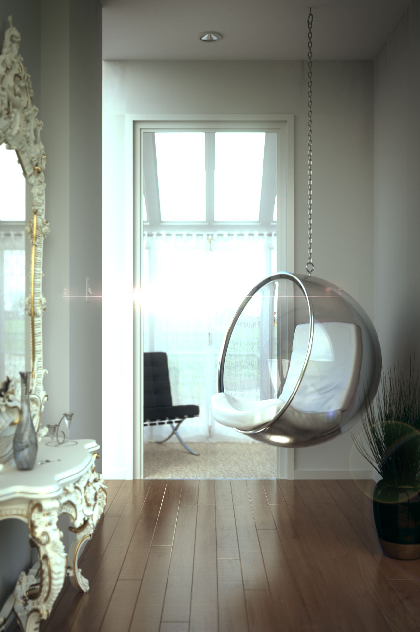 Suspended Chair - Interior Scene