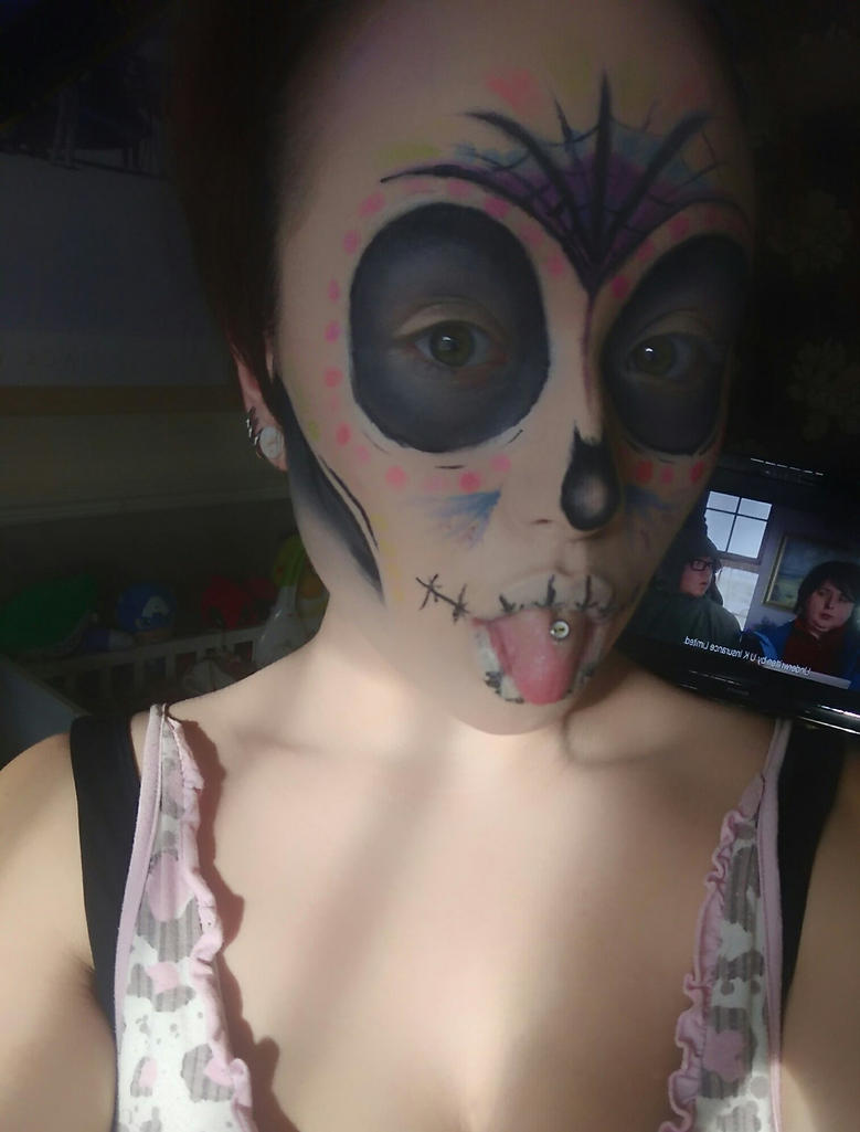 Sugar skull update by shona-n