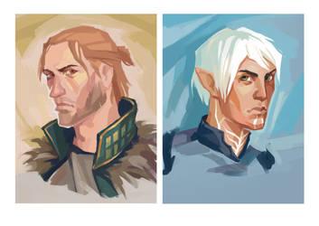 Untitled Dragon Age II fanart by sashafranz