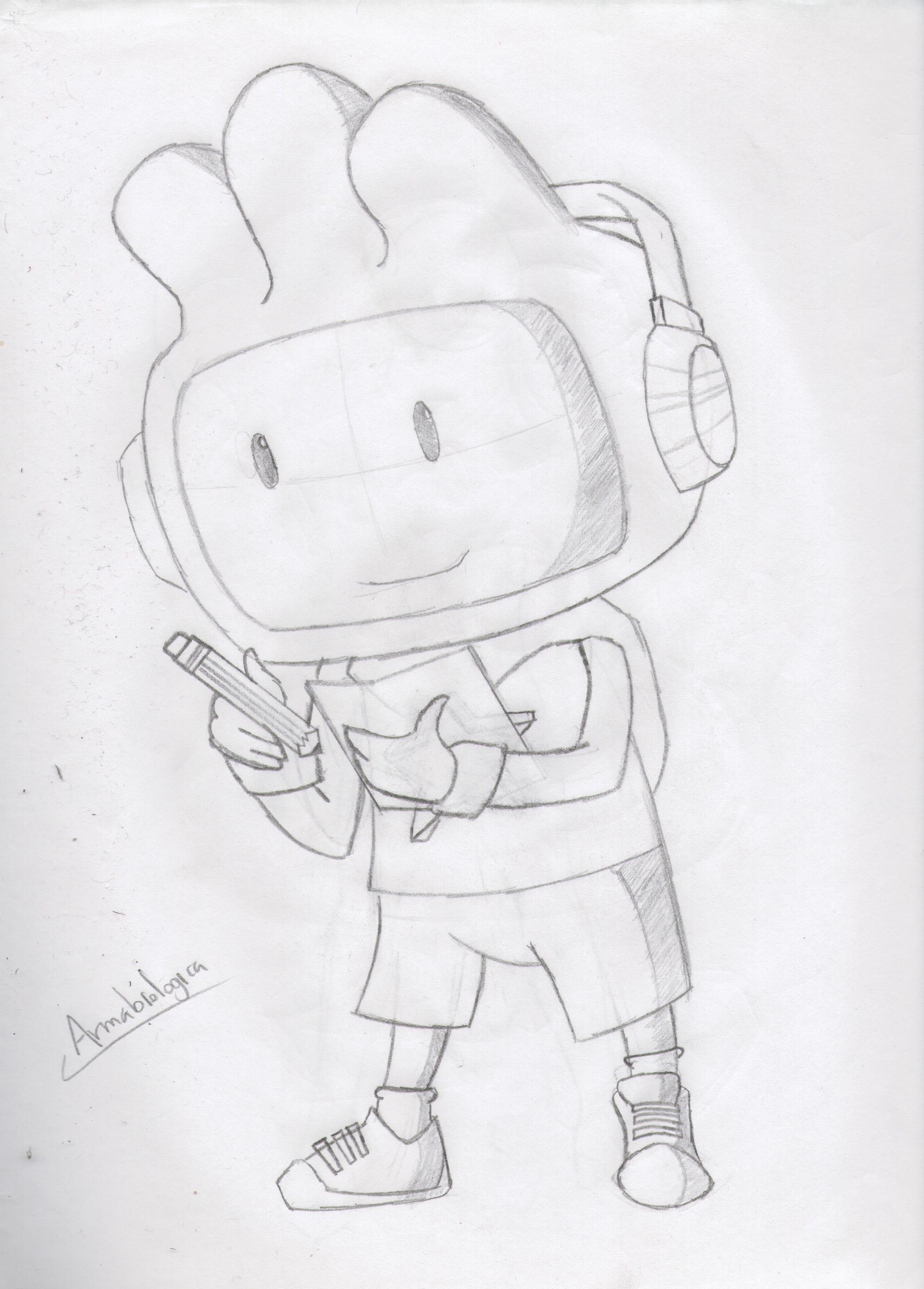 Maxwell Scribblenauts Drawing : Maxwell sketch by armabiologica on deviantart