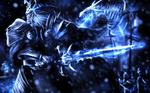 All Must Die... ! - Lich King Fan art - Warcraft by LittleAmava