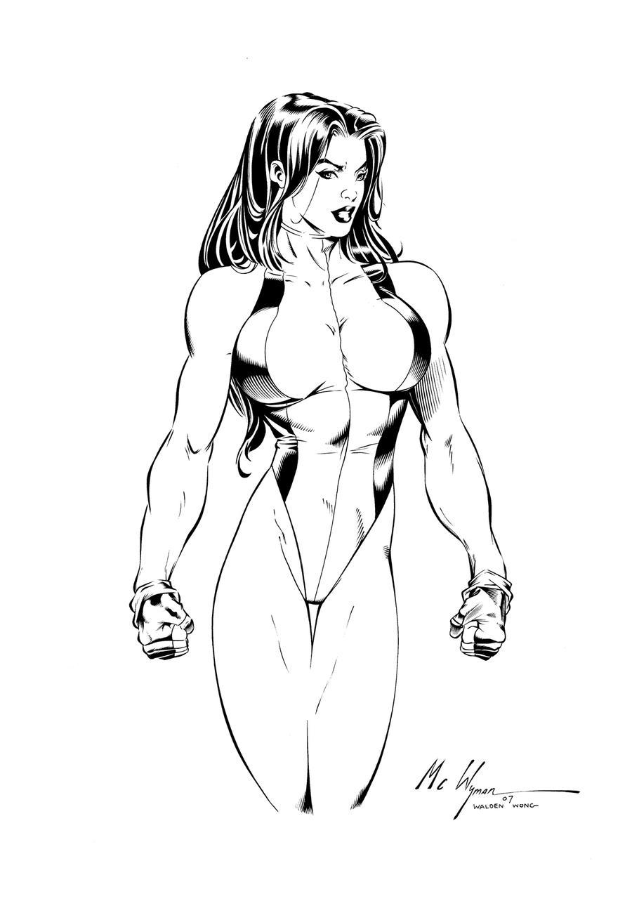 she hulk by waldenwong - She Hulk Coloring Pages