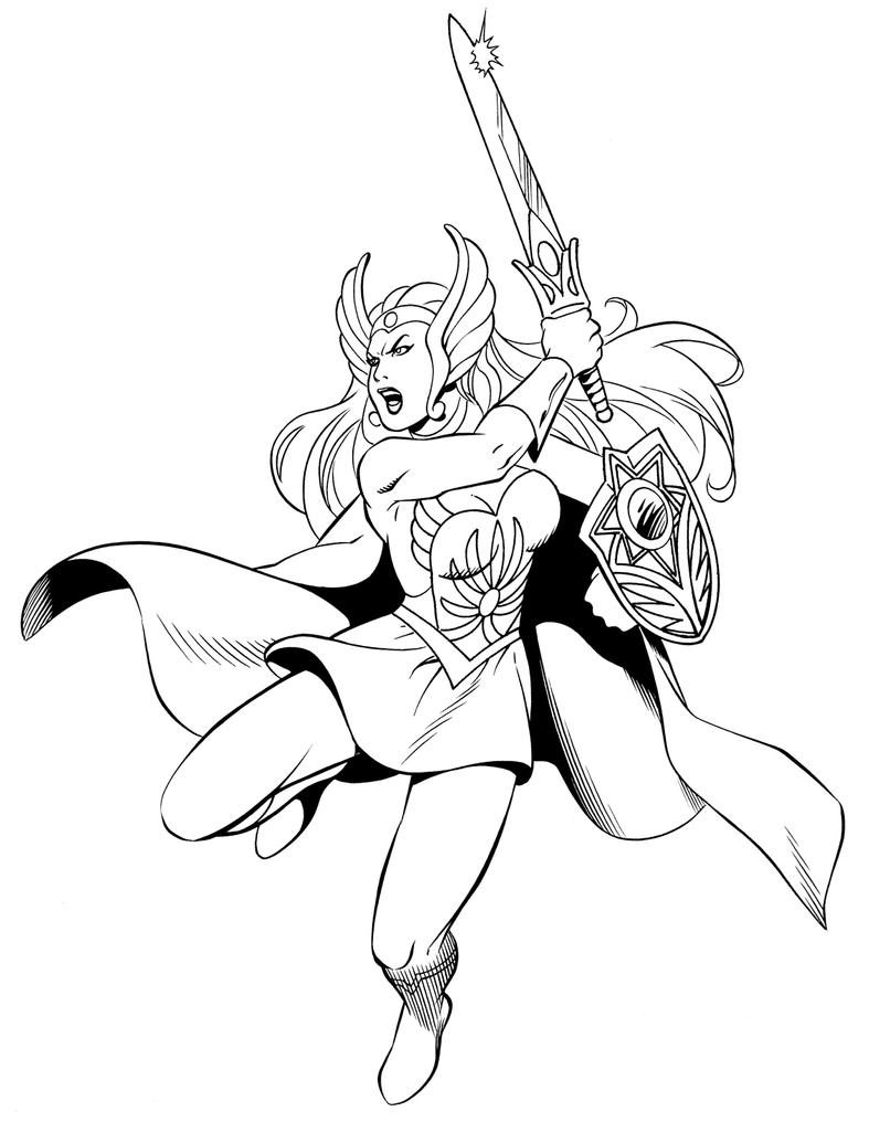 she ra coloring pages - she ra by waldenwong on deviantart