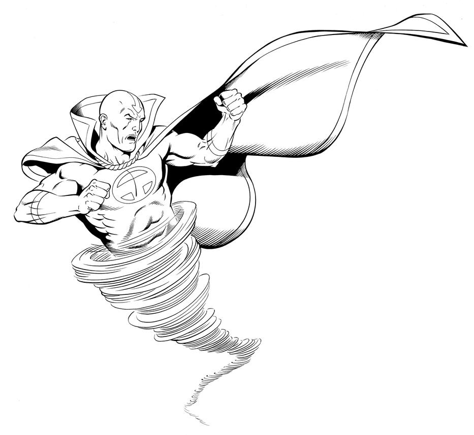 Red Tornado Coloring Pages