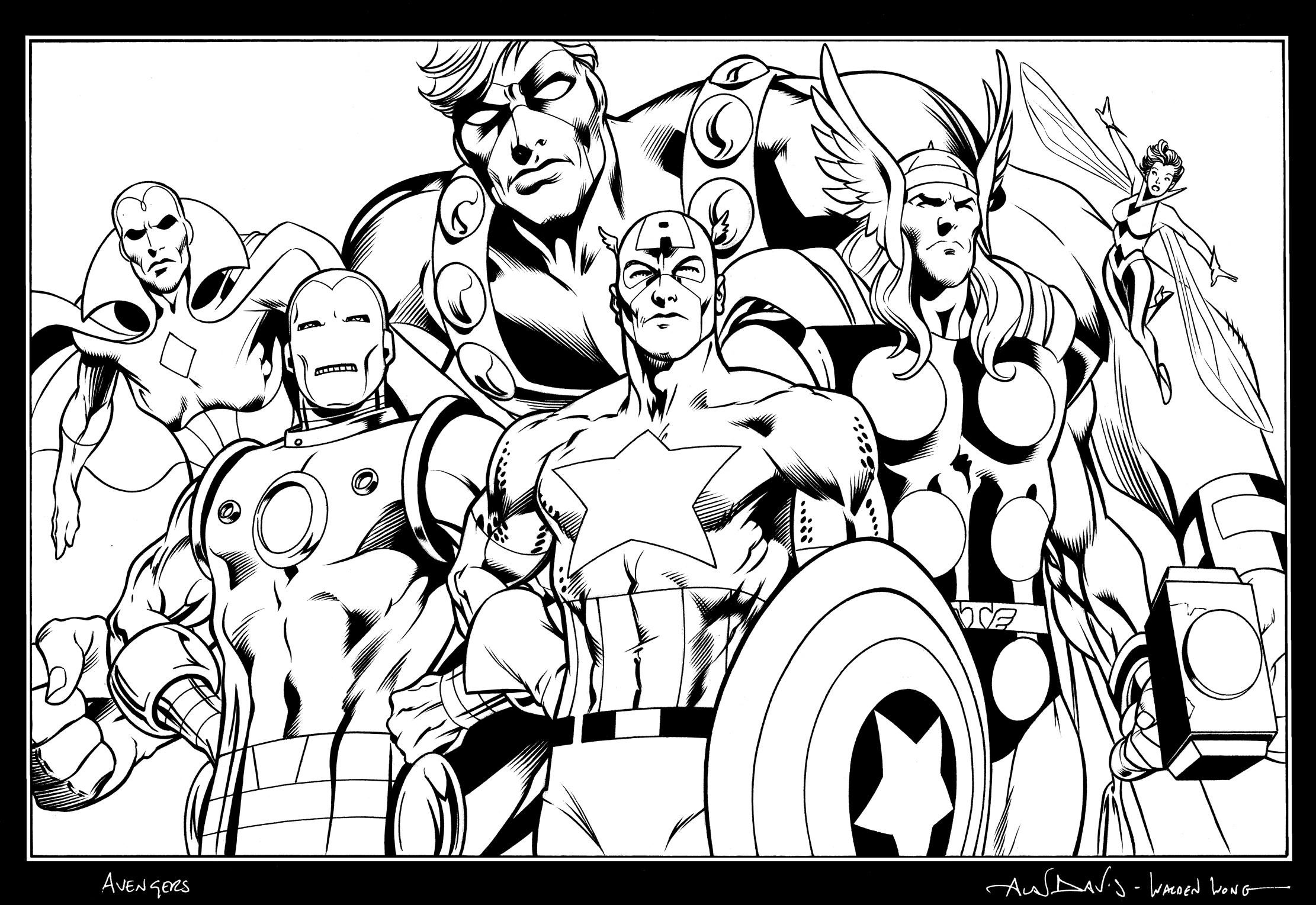 Avengers by waldenwong on deviantart for Avengers coloring book pages