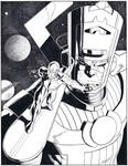 Silver Surfer Galactus commission