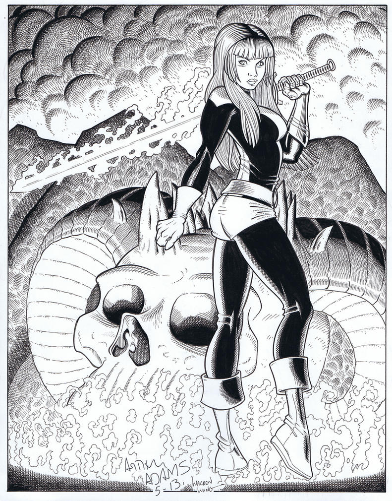 Magik finishes and inks over Arthur Adams by WaldenWong
