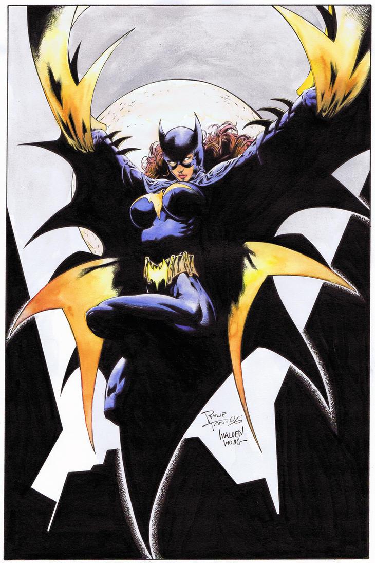 Batgirl water colors by WaldenWong