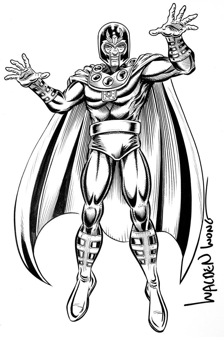 Inktober Day 26: Magneto by WaldenWong
