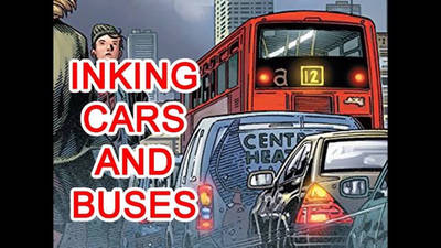 How to draw and ink cars and buses.  by WaldenWong