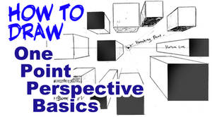 How to Draw Basics. One Point Perspective.
