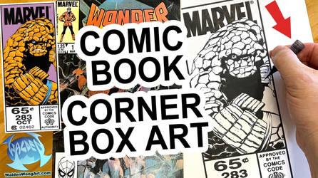 Comic Box Art original art
