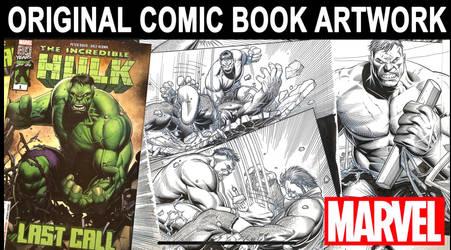 HULK: LAST CALL Original Marvel Comics Artwork
