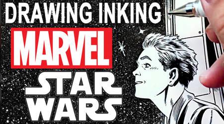 Drawing Inking Marvel Comics STAR WARS