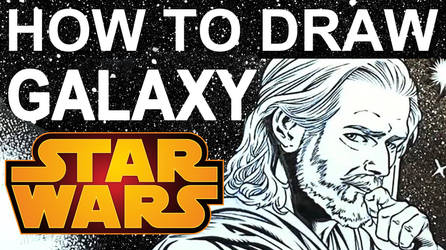 How to Draw Space Galaxy with Stars