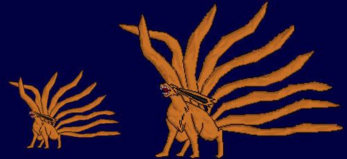 Kyuubi sprite by Divinecrusader0000