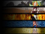 The Five Kages - Wallpaper