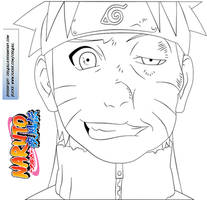 Naruto Slap Face - Lineart by crz4all