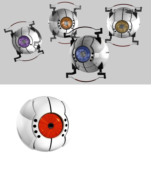 WIP GLaDOS Cores by 100SeedlessPenguins