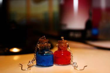 mana_health potion earrings by Tabatina