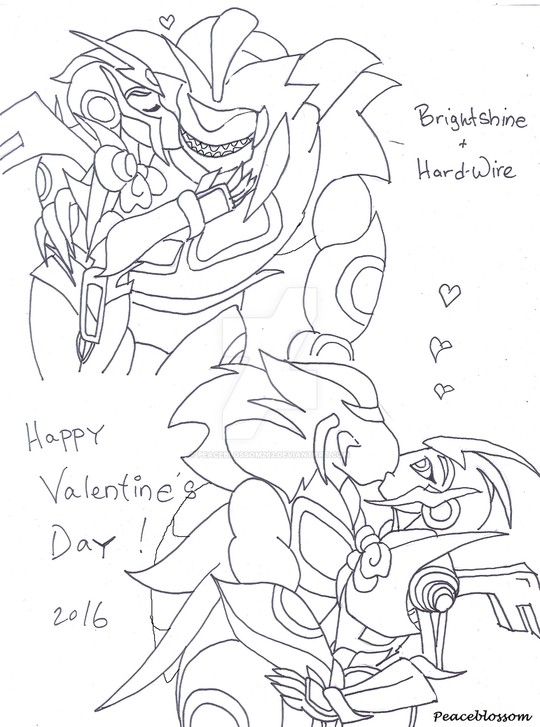 Brightshine and Hard-Wire-Valentines 2016 by Peaceblossom262