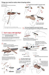 Drawing violins - things you need to notice by JaneMere