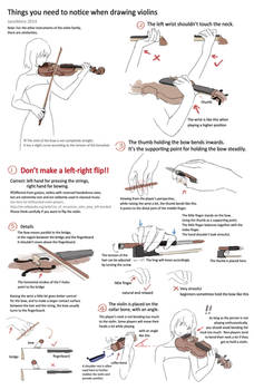 Drawing violins - things you need to notice