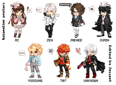 MYSTIC MESSENGER - Gaiaonline cosplay avatars