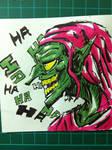 Green goblin post it note