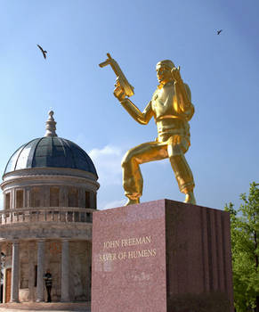 John Freeman Statue - Saver of Humens