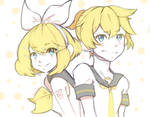 Rin/Len Kagamine sketch art