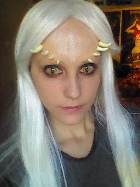 Priscilla (Dark Souls) - Makeup test by LadyLessienFelagund