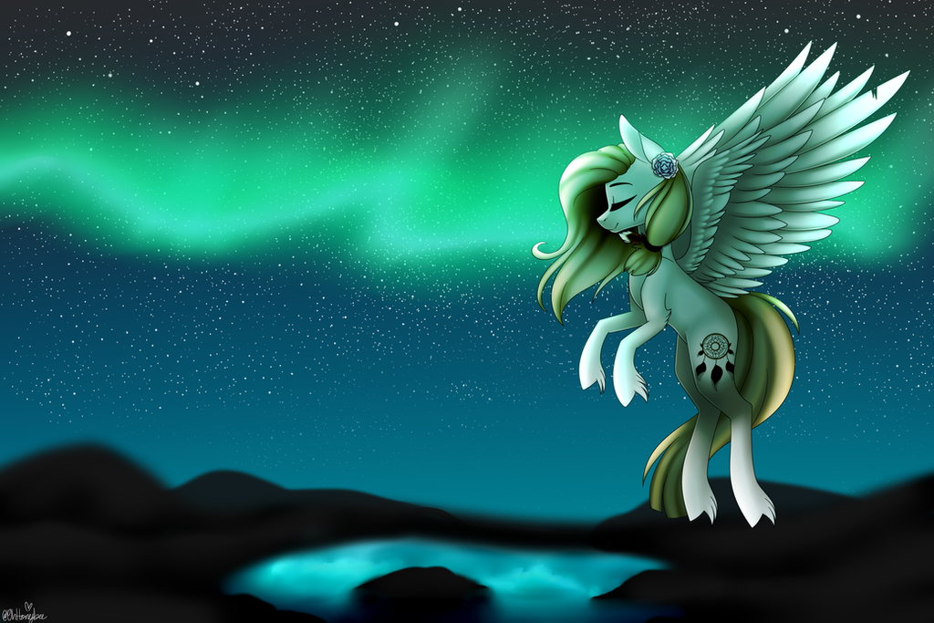 Northern Lights By OhHoneyBee