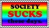 Society Sucks Stamp by caramel-dixon