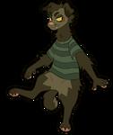 scruffy fur + striped shirts