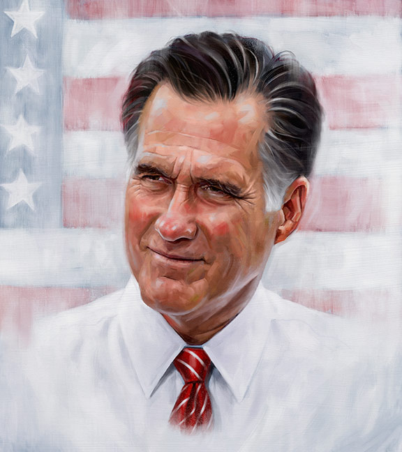 Mitt Romney by carts