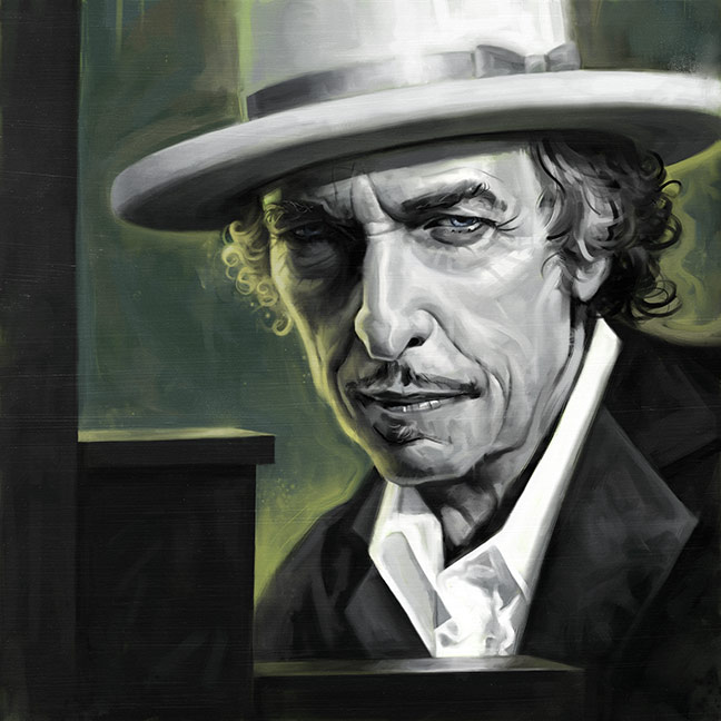 Bob Dylan by carts
