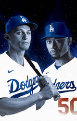 Corey Seager and Mookie Betts