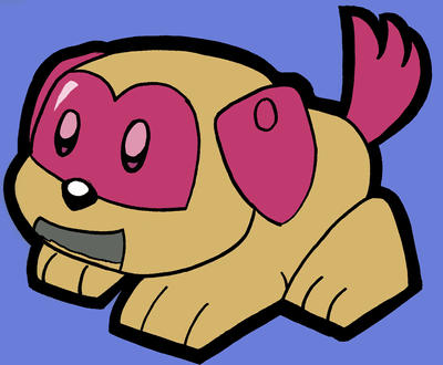 Pludog, el perro robot Kirby__robot_pup_by_kirbydrawer