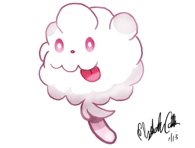 Cotton Candy Pokemon By LizDraws