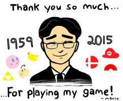 RIP Satoru Iwata by LizDraws