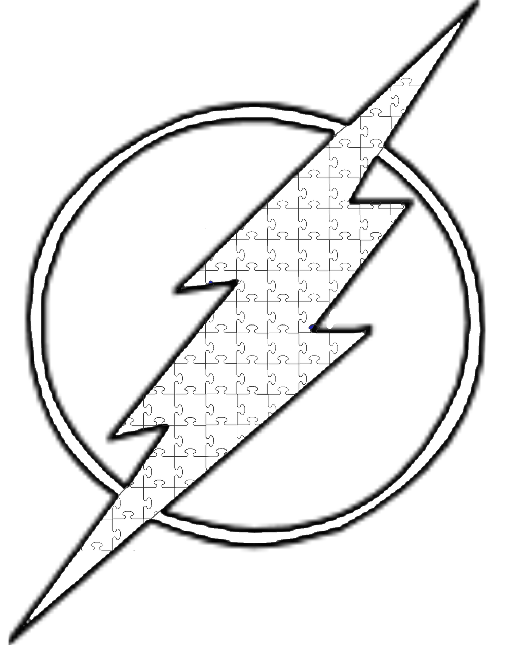 The Flash Line Art : Lineart abstract surreal miscellaneous on color me club