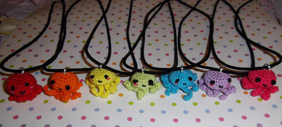 Octopus Necklaces by everythinganna