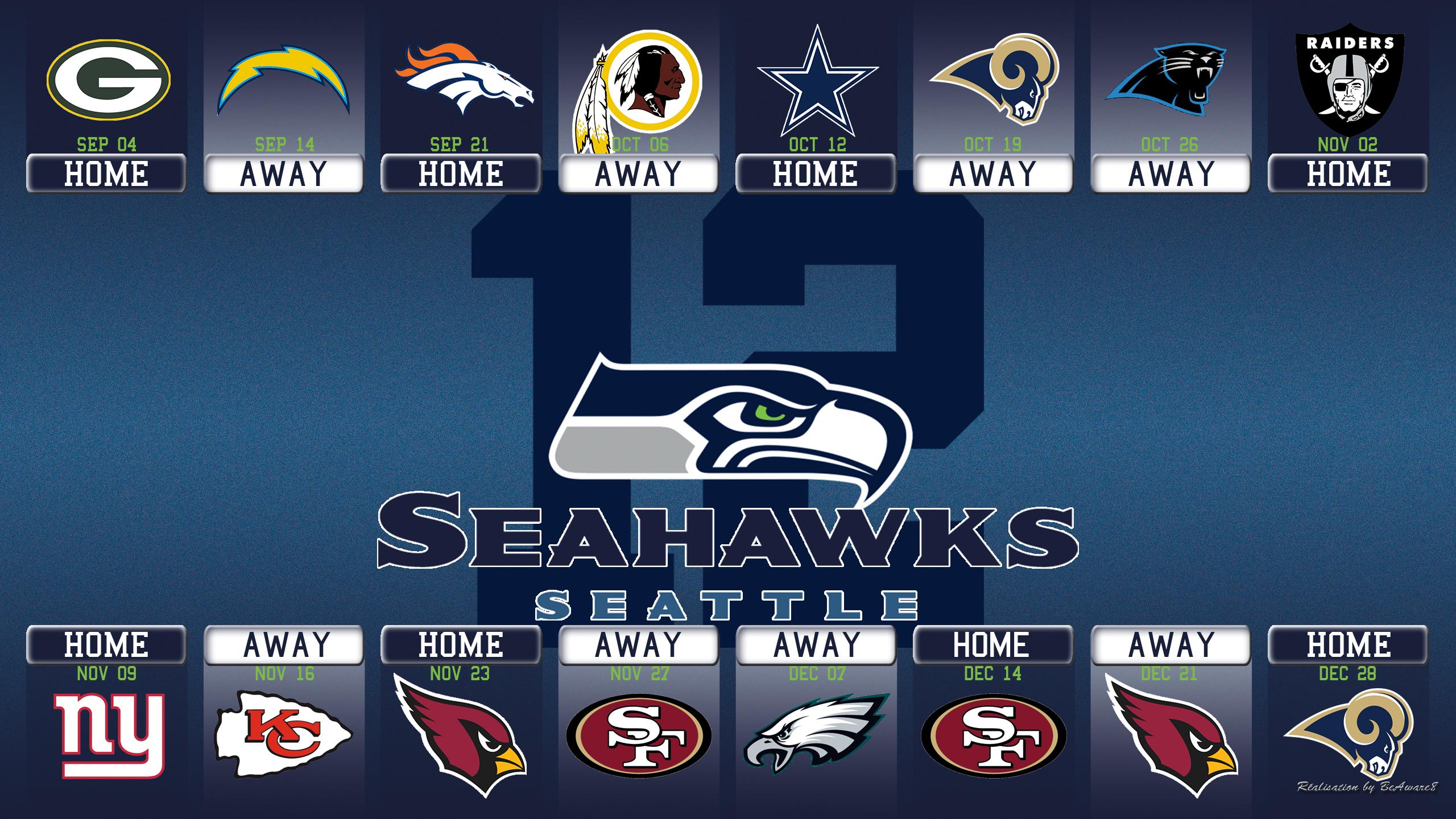 Seattle Seahawks Calandar Saison 2014 By Beaware8 On