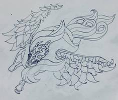 Nightmare Unicorn - Linework